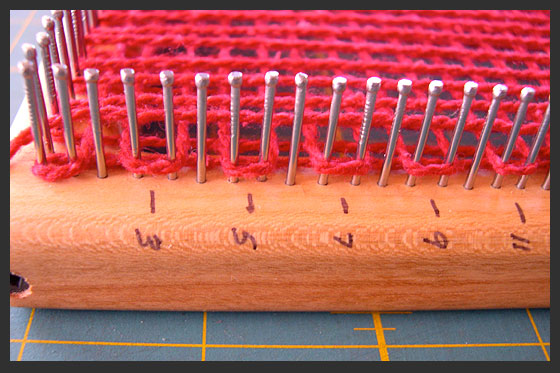 right side of the loom