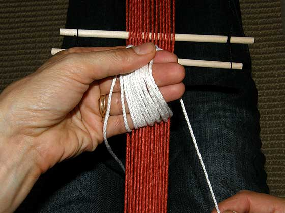 heddles step 6