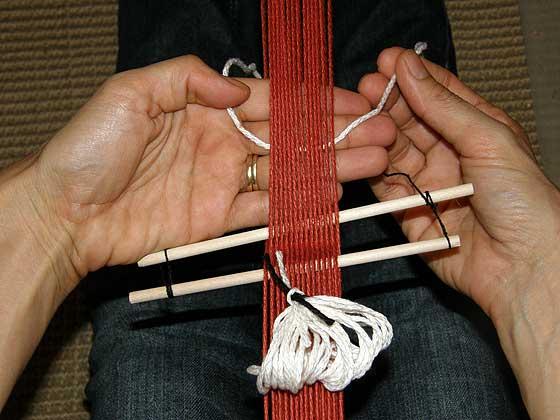 heddles step 9