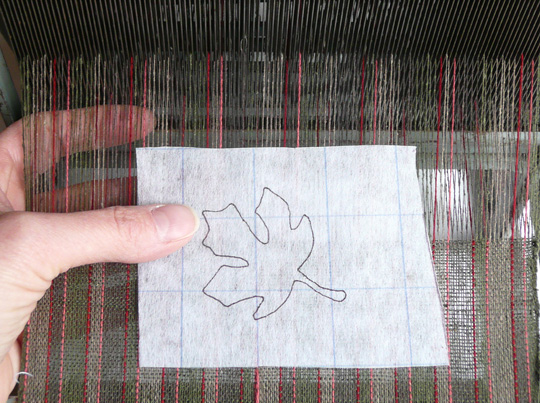 tracing the design onto paper