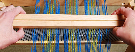 weaving with two heddles
